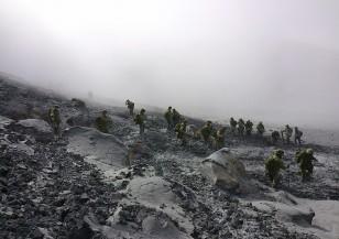 След изригването на вулкана Онтаке в Япония