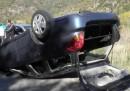 Лек автомобил с три деца се преобърна край Симитли