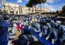 Мюсюлмани на масова молитва в Рим