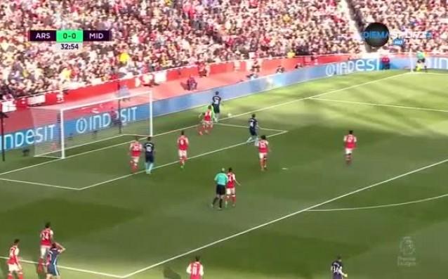 Арсенал - Мидълзбро 0:0 /първо полувреме/