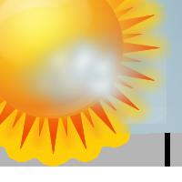 Предимно слънчево