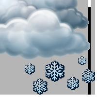Облачно със слаб снеговалеж