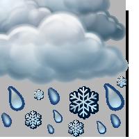 Облачно с мокър сняг