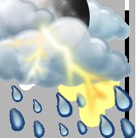 Предимно облачно, дъжд с гръмотевици