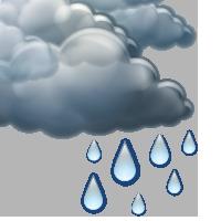 Облачно със слаб дъжд