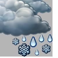 Облачно и слаби превалявания от мокър сняг