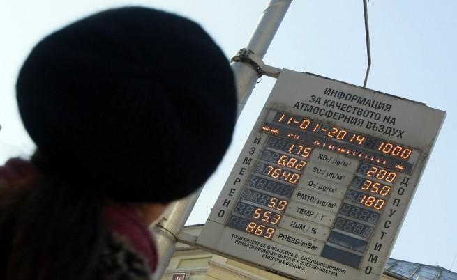 Наднормено запрашаване на въздуха е измерено в 15 града в страната