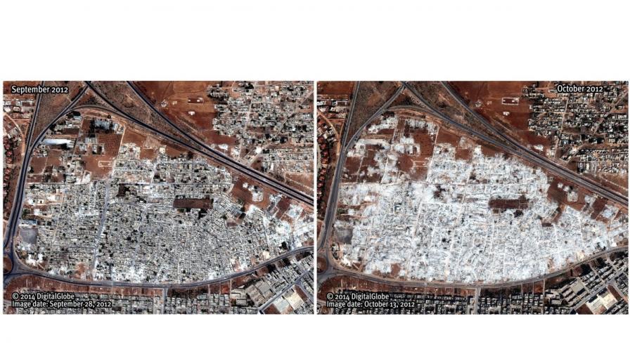 Сирийското правителство е сринало цели квартали за наказание