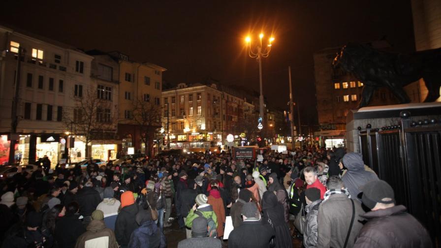 Протест срещу застрояването на Странджа в София на 28 януари