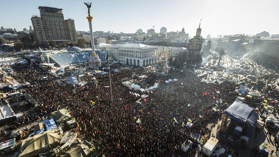 Над 50 хил. демонстранти протестираха в Киев