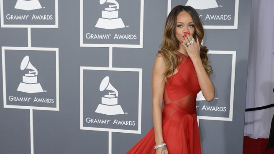 """Риана на 55-ото издание на наградите """"Грами"""" в Лос Анджелис 2013 г."""