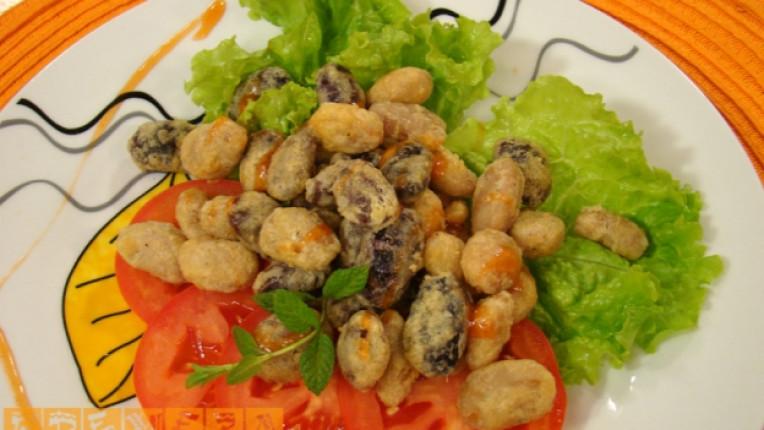 смилянски фасул паниран джоджен традиционна рецепта морков зелена салата лук