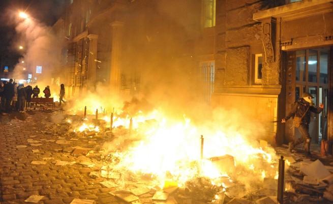 Лвов през нощта на 18 срещу 19 февруари