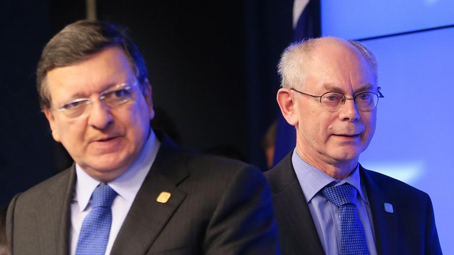 Барозо (вляво) и Ромпой