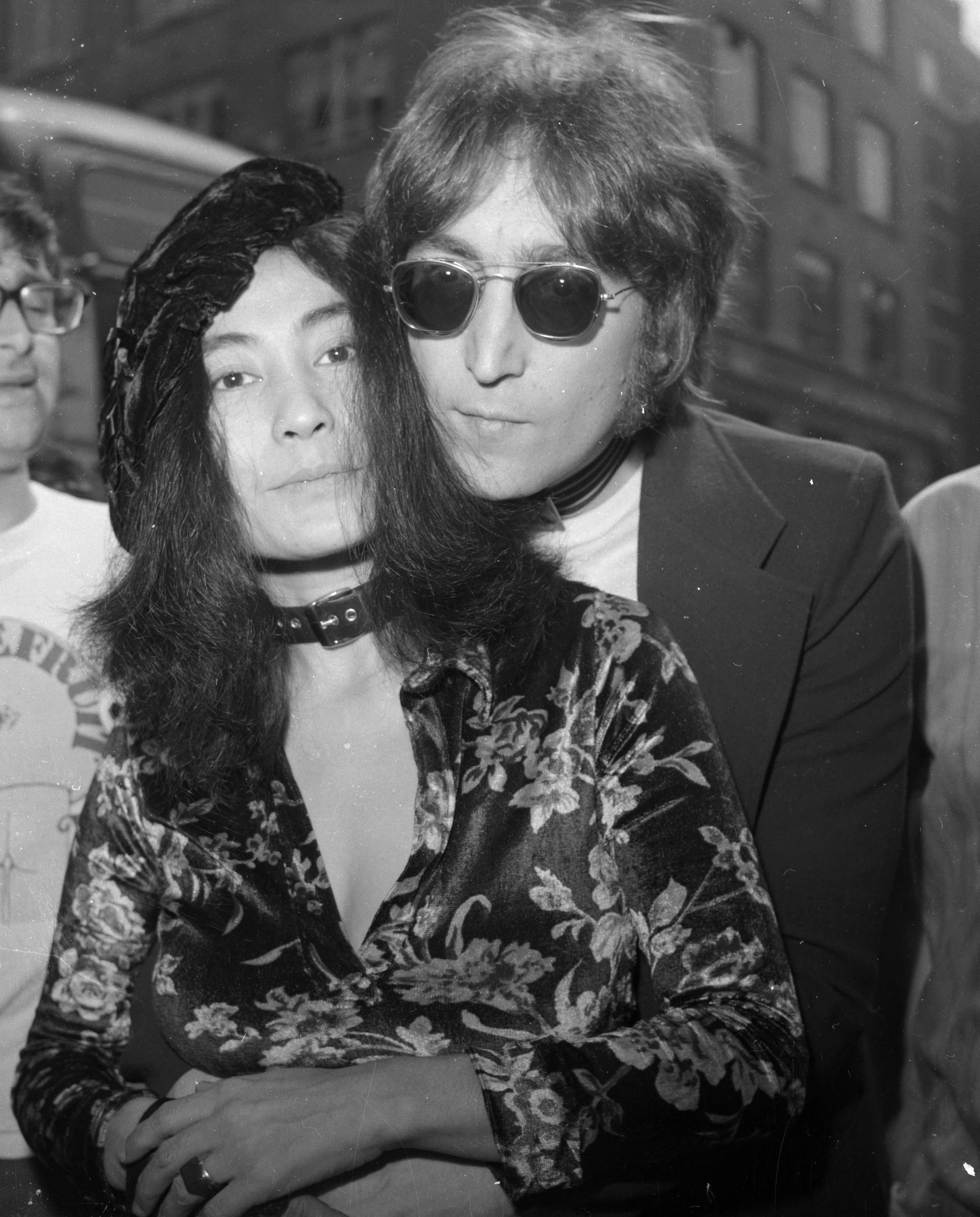 <p>Джон и Йоко в Лондон на 20 юли 1971 г.</p>