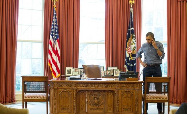 Путин и Обама разговаряли един час по телефона за Крим