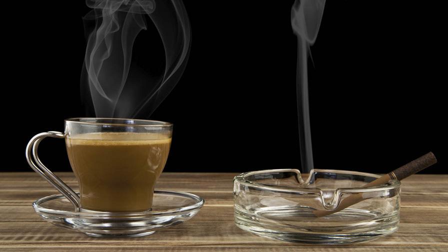 Кафето с цигара е много лоша комбинация