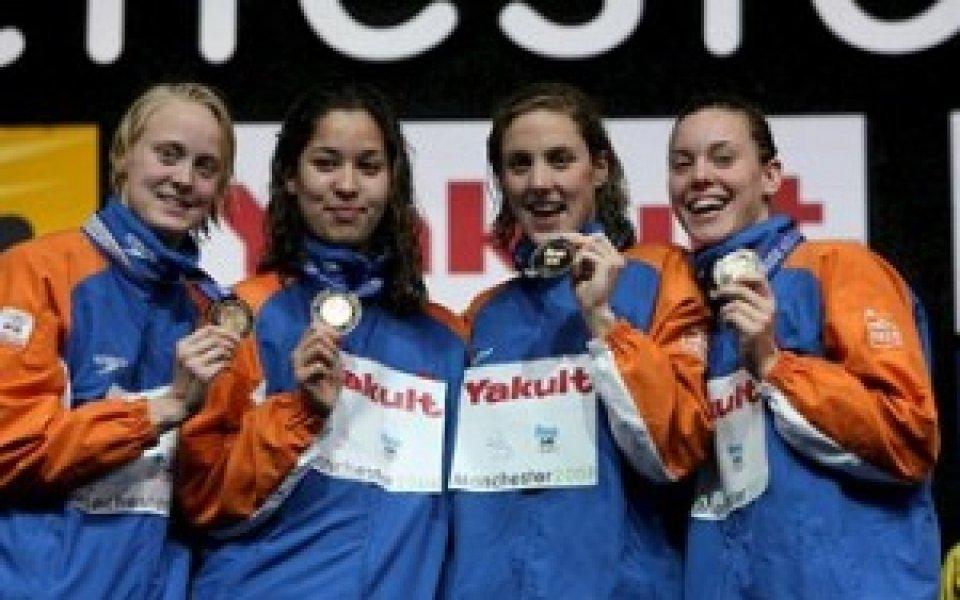 Холандската щафета с нов световен рекорд на 4 по 200 свободен стил