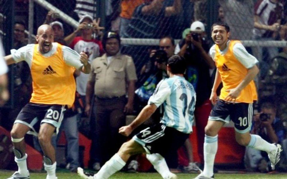 Рикелме и Верон в националния за мача с Бразилия