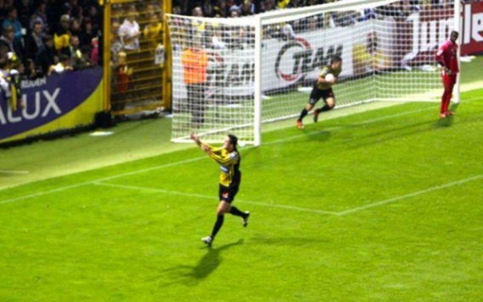 Костадин Хазуров с асистенция за победния гол на Лиерс срещу ФК Брюж