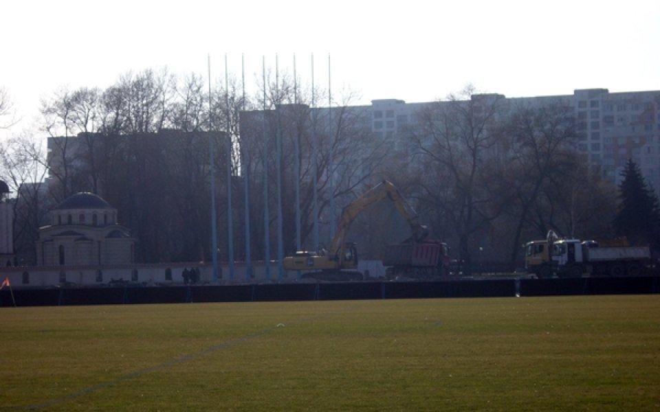 СНИМКИ: Какво остана от Сектор А на стадион Георги Аспарухов