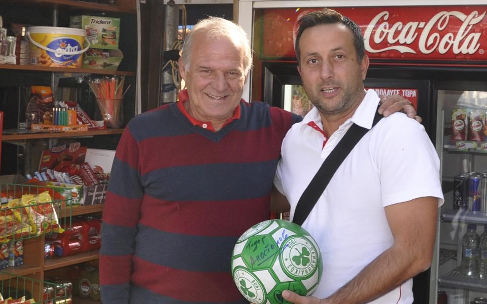 Легенда подари топка с автограф за късмет на Хасково