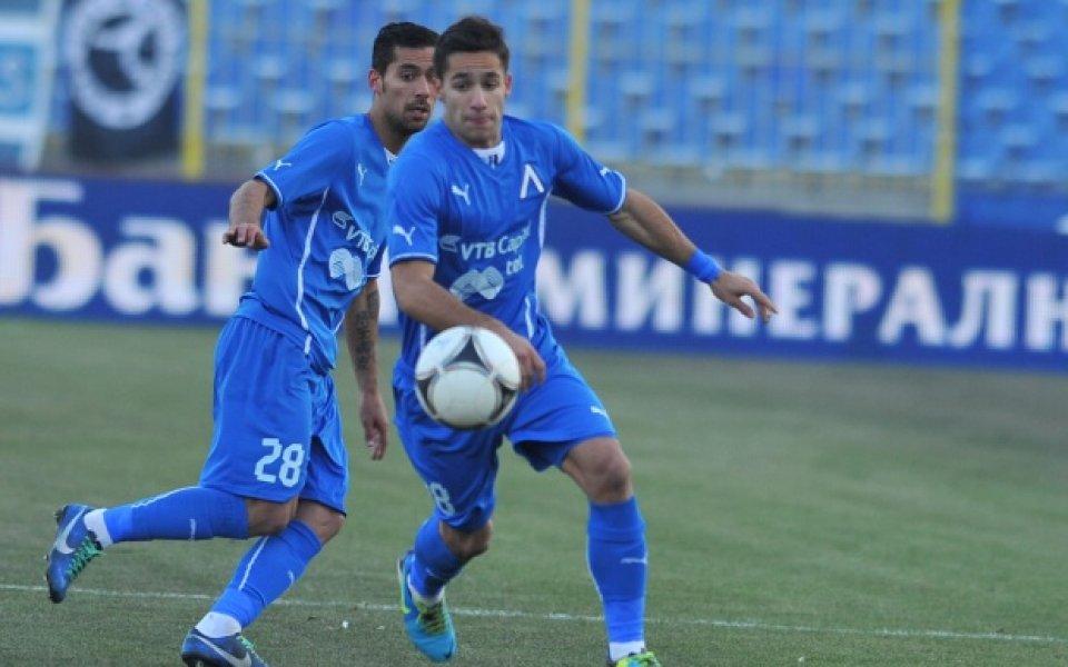 Левски загрява с отбранителна линия преди мача с Черноморец