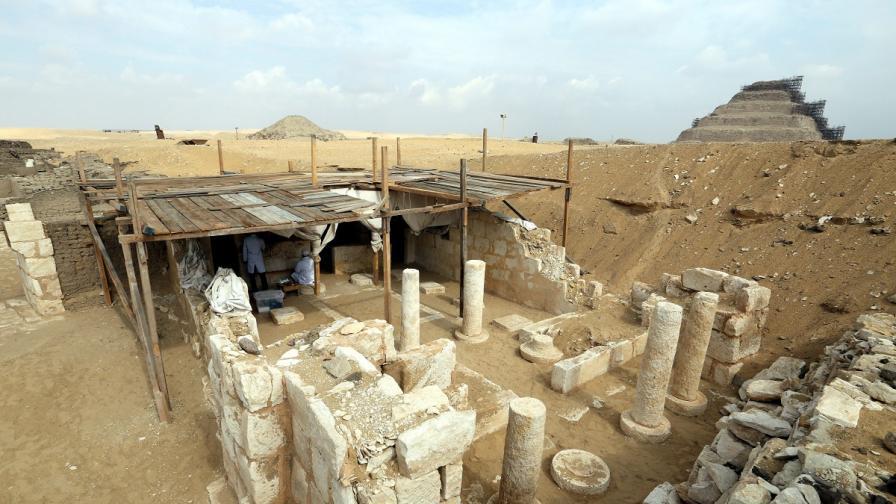 Откриха гробници на военни от времето на фараоните
