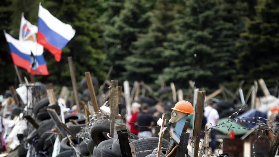 Барикада в Донецк