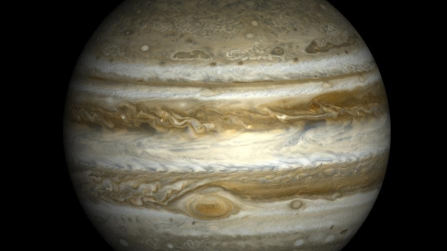 Древен сблъсък с планета е променил Юпитер