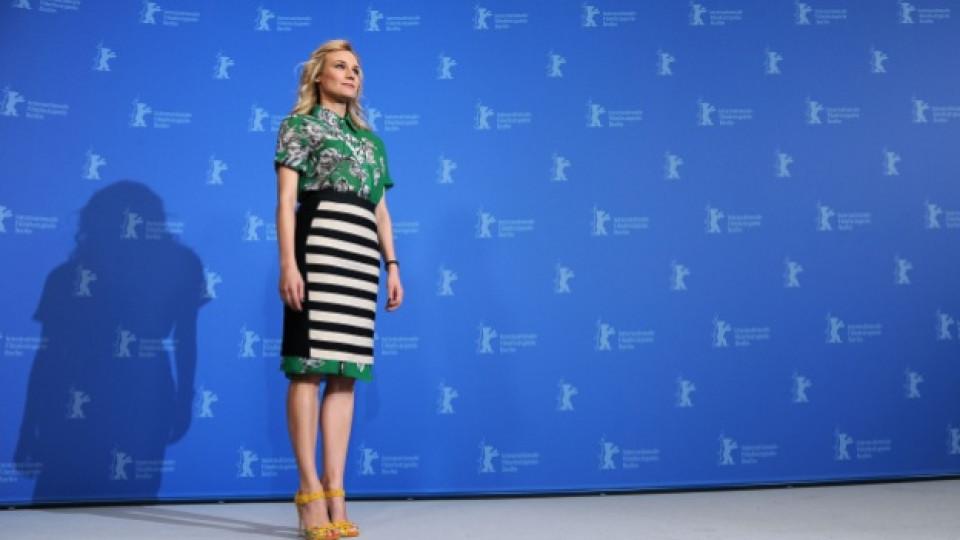 Актрисата Даян Крюгер (35 г.) бе избрала именно рокля с хоризонтално райе на тазгодишния кинофестивал в Берлин, февруари 2012 г.