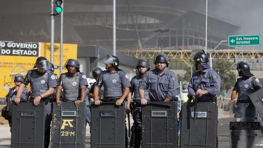 Полицията в Сао Пауло разпръсна протест срещу Световното