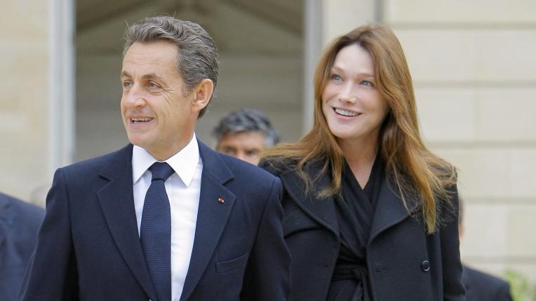 Саркози и съпругата му Карла Бруни