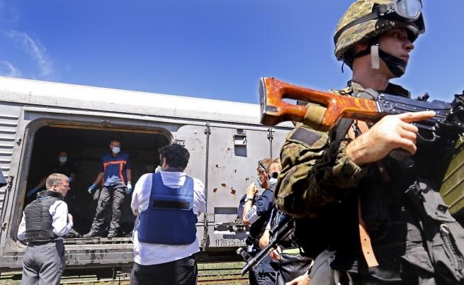 Телата от сваления самолет бяха откарани в Харков