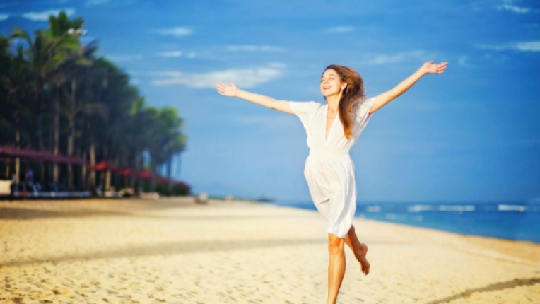 жена щастие лято радост вдъхновение сила