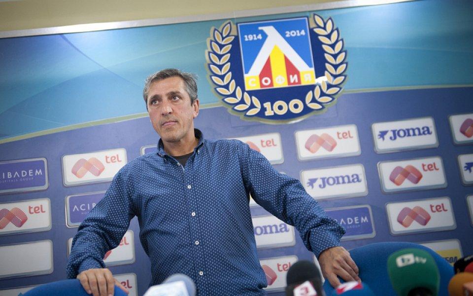 Бившият треньор на Левски Пепе Мурсия се задържа само два
