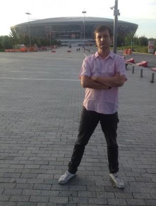 Данаил Глишев пред Донбас Арена, юли 2014