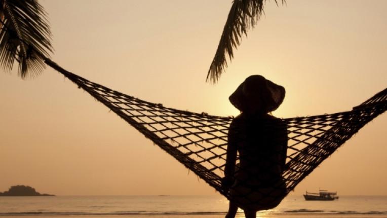 пътуване залез хамак море мечта плаж спокойствие