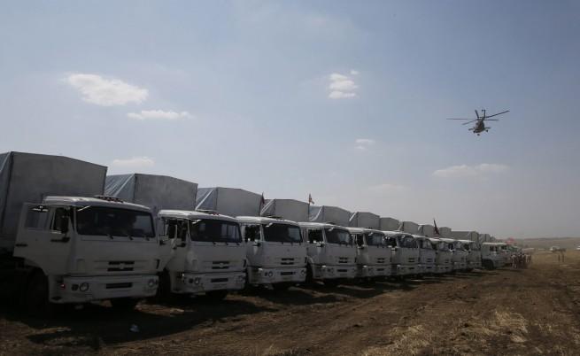 Украински граничари и митничари ще проверяват руския хуманитарен конвой