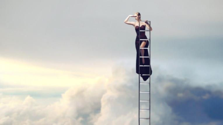 жена стълба мечта небе успех