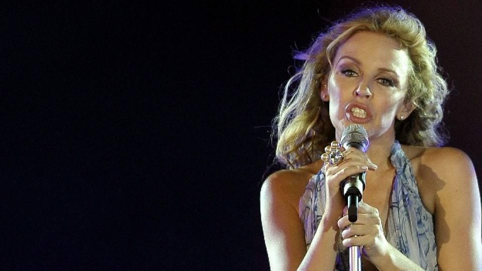Кайли по време на концерт в Египет през октомври 2010-а