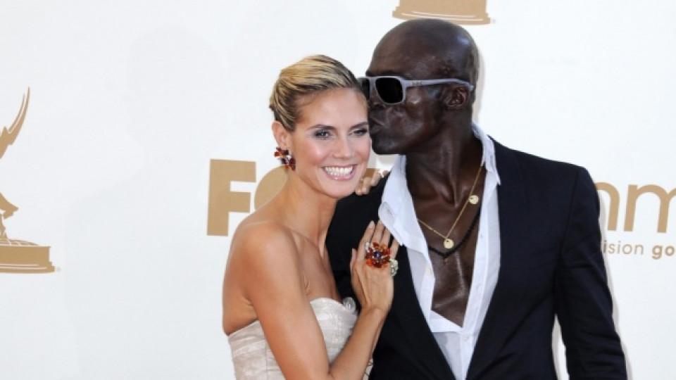 Хайди Клум и съпругът й Сийл пристигат на тазгодишната церемония по раздаването на наградите Еми в Лос Анджелис