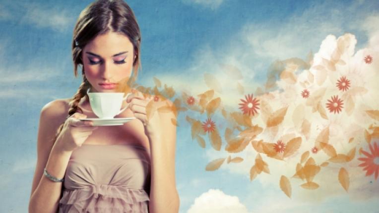 кафе жена аромат