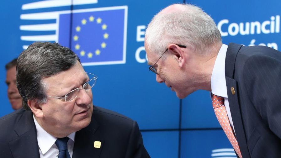 Жозе Барозу (л) и Херман ван Ромпой