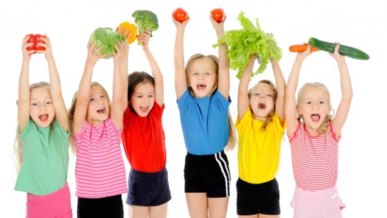 деца храна здраве зеленчук дете