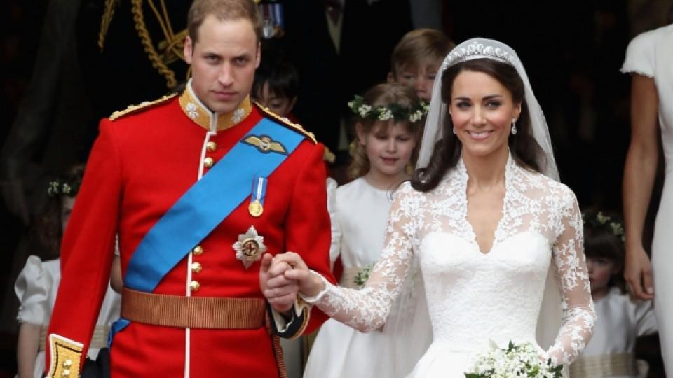 Кейт Мидълтън на сватбата си с принц Уилям