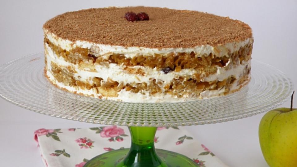 Есенна торта без печене