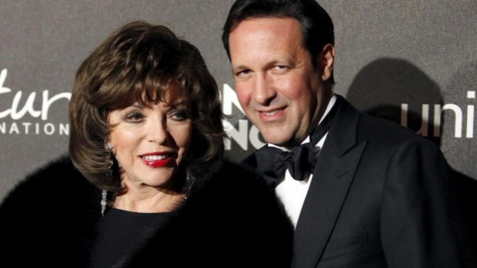 Джоан Колинс и нейният съпруг Пърси Гибсън са заедно от 10 години
