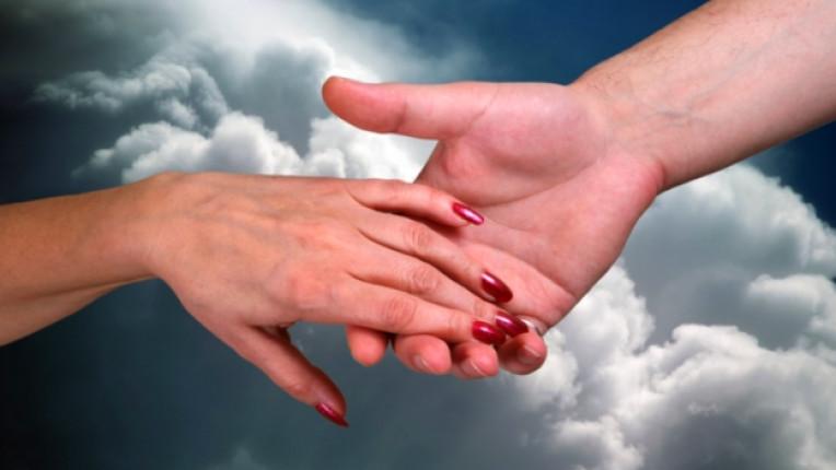 сила ръка помощ подкрепа надежда