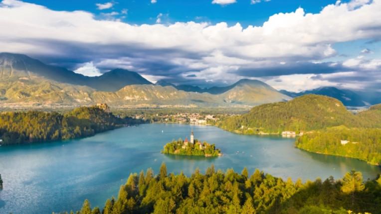 езеро блед словения природа